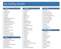 Real Simple Wedding Checklist